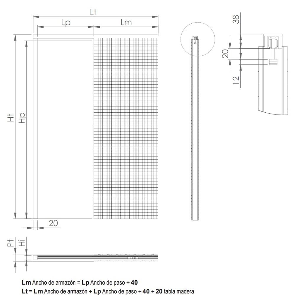Armazon casoneto simple pladur futura guias y armarios - Sistema puerta corredera ...