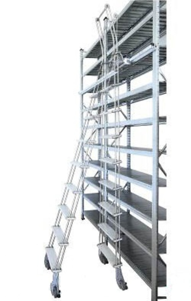 Guia para escalera aluminio deslizante adosada con ruedas - Guia de aluminio ...