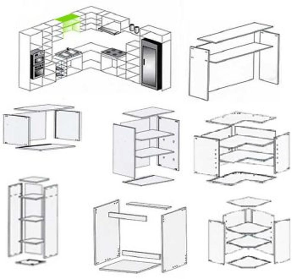 Medidas de modulos para muebles de cocina for Medidas muebles
