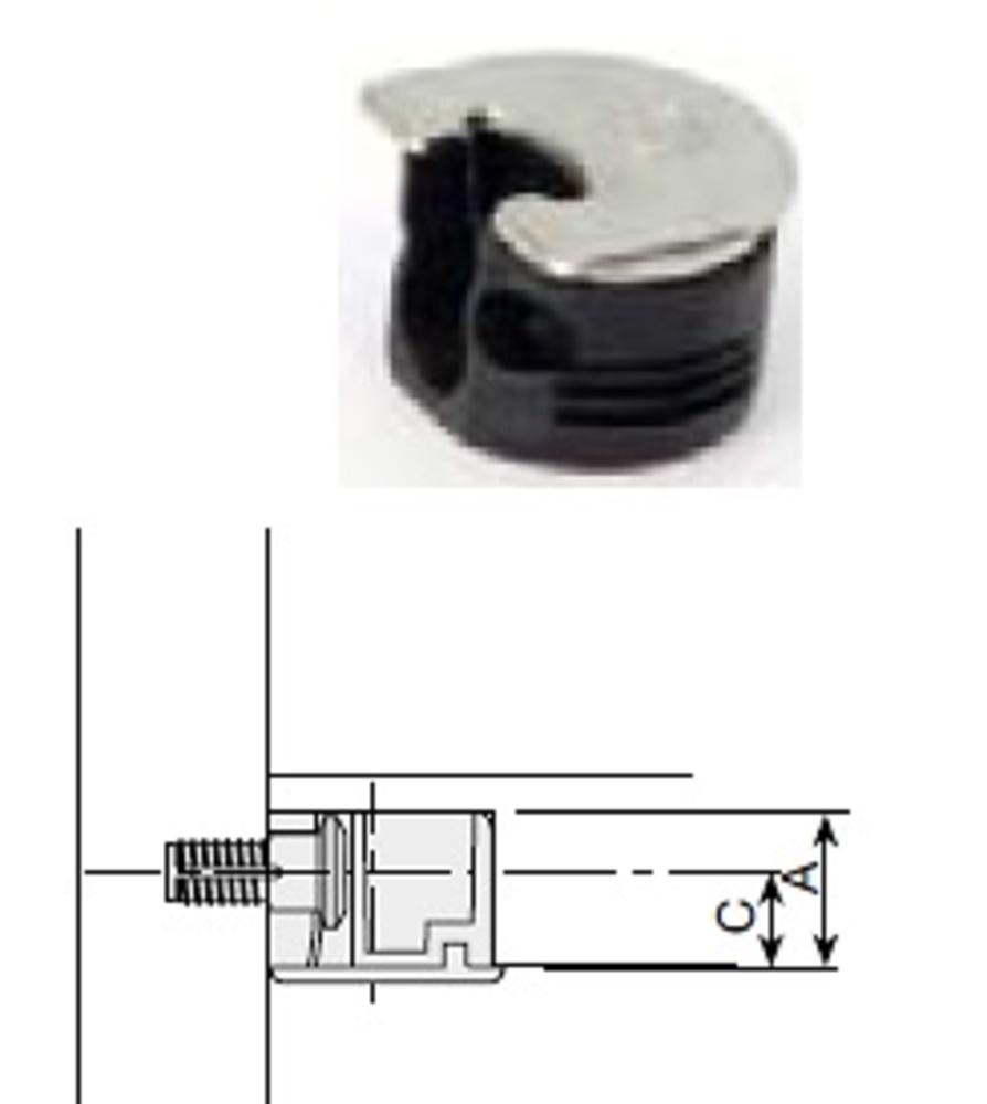 Soporte balda clock 5 niquel cocina y ba o tapones - Soporte para baldas ...