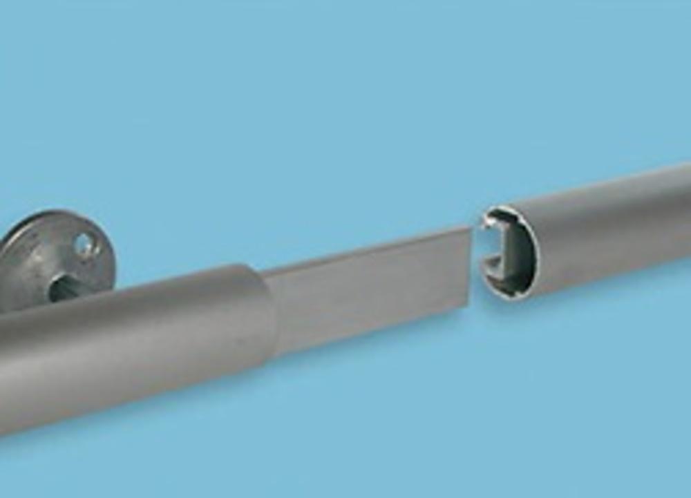 Tubo para escalera aluminio deslizante adosada con ganchos - Guia de aluminio ...