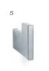 ACCESORIOS BAÑO BIG INOX MATE PERCHA ACERO INOXIDABLE 5