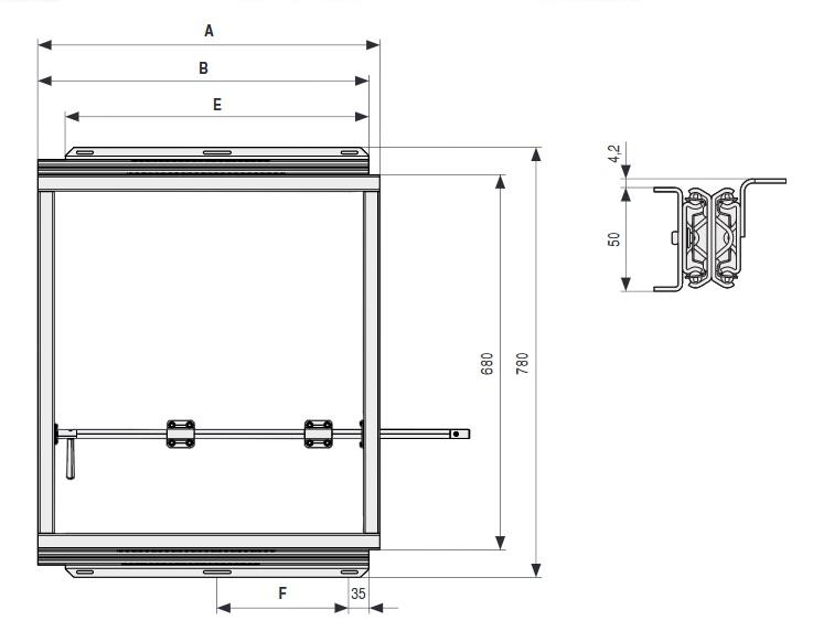 ACE 50 Bastidor de acero combinado con aluminio extensible para mesasCon volteador para tableros integrado.Apertura y cierre sincronizado 620 MM 600 MM 644 MM 1264 MM 550 MM 240 MM ALUMINIO/ACERO 1200 MM 1230 MM 1277 MM 2607 MM 250 MM ALUMINIO/ACERO