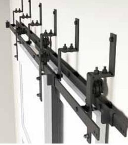 BRAULIO kit acc. pta GRANERO de madera simples o dobles hasta 120KG.NEGRO NEGRO KIT 5 SOP. BYPASS