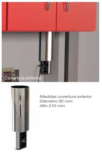 ELEVATOR TORRE ENCHUFE TELESCOPICA REDUCIDA D:80 ALUMINIO COBERT.EXTERIOR