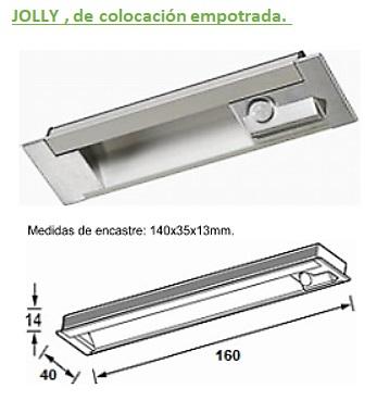 AB REGLETA JOLLY LED CON SENSOR PROXIMIDAD A 12V EMPOTRAR 4200/4500ºK BLANCO NATURAL 12DC 2,8W