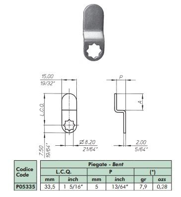 LEVA EXTRA MERONI P05335 PLEGADA