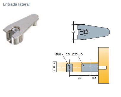 EXCENTRICA S6 D:20 QUICKFIT-EXPANDO SIST.32 PLASTICO GRIS 18-19 MM 14 MM 1000 LATERAL NIQUEL 15-16 MM 12,5 MM 1000 LATERAL NIQUEL 18-19 MM 14 MM 1000 LATERAL PLASTICO GRIS 15-16 MM 12,5 MM 1000 LATERAL
