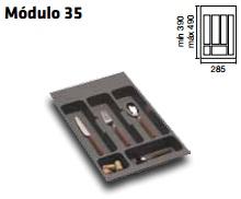 CUBERTERO ALBERTI mín 247 / máx 301 350 MM GRIS mín 390 / máx 490 PLASTICO