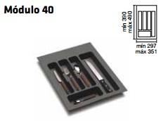 CUBERTERO ALBERTI mín 297 / máx 351 400 MM GRIS mín 390 / máx 490 PLASTICO