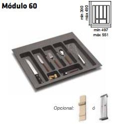 CUBERTERO ALBERTI mín 497 / máx 551 600 MM GRIS mín 390 / máx 490 PLASTICO
