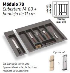 CUBERTERO ALBERTI mín 597 / máx 651 700 MM(2 piezas) GRIS mín 390 / máx 490 PLASTICO