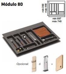 CUBERTERO ALBERTI mín 697 / máx 740 800 MM GRIS mín 390 / máx 490 PLASTICO