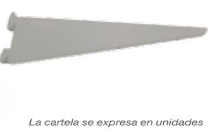 GUIA CREMALLERA DOBLE Y CARTELA GRIS ACERO 17 CMS UNIDAD GRIS ACERO 22 CMS UNIDAD GRIS ACERO 37 CMS UNIDAD GRIS ACERO 47 CMS UNIDAD