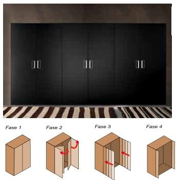 Guias y armarios sistemas armarios y complementos puertas escamoteables herrajes para - Puertas escamoteables ...