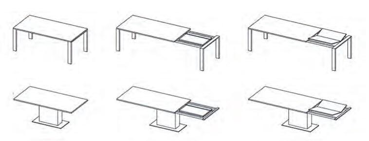 ACE 50 Bastidor de acero combinado con aluminio extensible para mesasCon volteador para tableros integrado.Apertura y cierre sincronizado