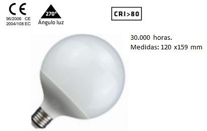 BOMBILLA GLOBO LED 220v E-27