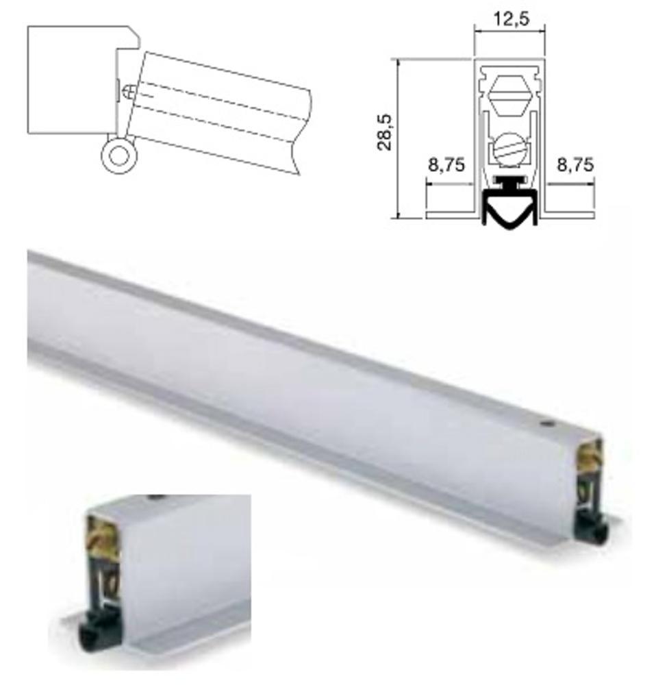 Burlete puerta embutir t aluminio carpinteria herrajes - Burlete para puertas ...