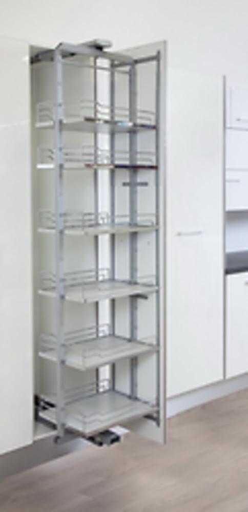 Despensa columna extraible giratoria con soft close for Herrajes para muebles de bano
