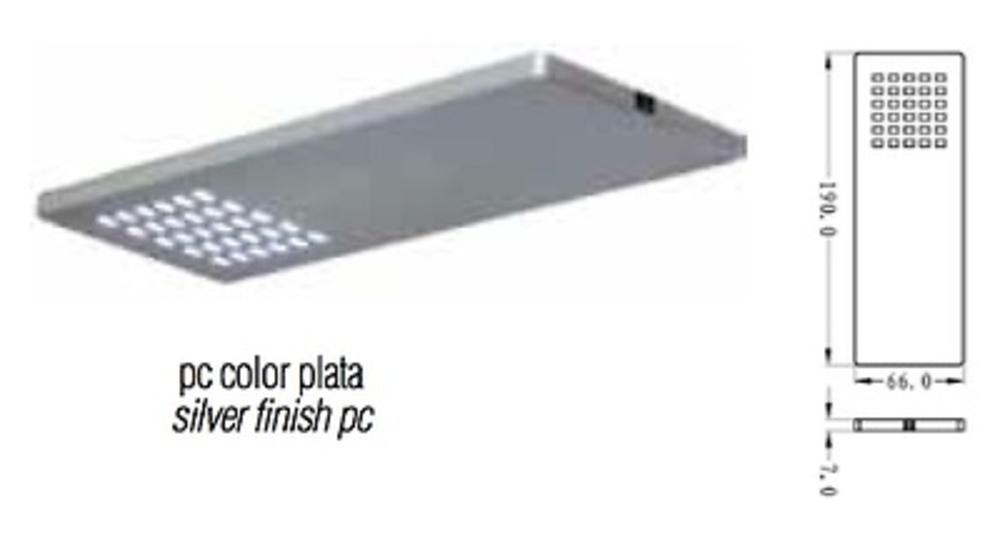 FOCO-LAMPARA CUADRADA 190X66X9 MM CON SENSOR