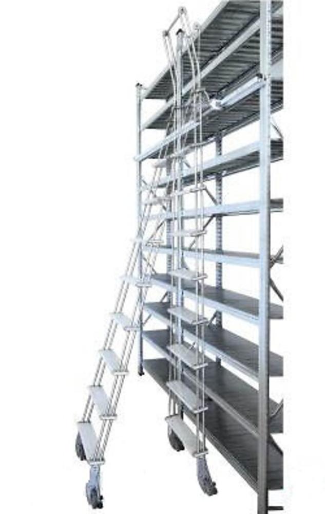 Guia para escalera plegable de aluminio deslizante adosada for Escalera aluminio plegable