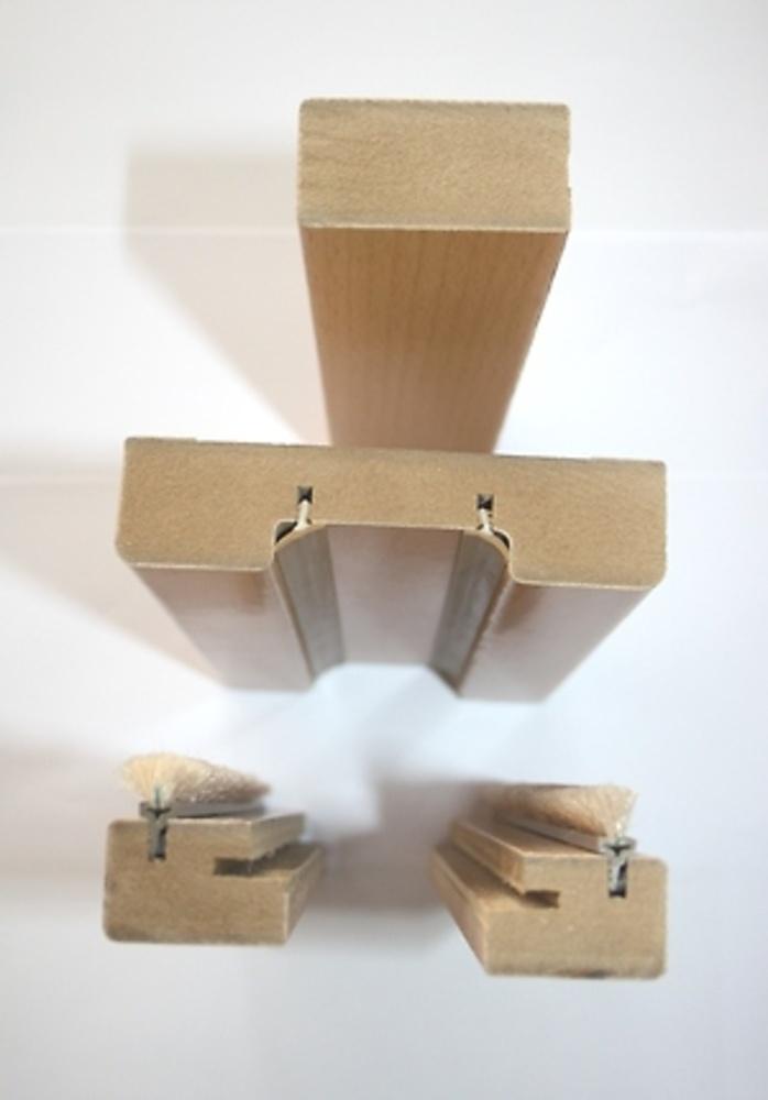 Kit molduras armazon corredera puerta madera guias y for Remate de puertas de madera