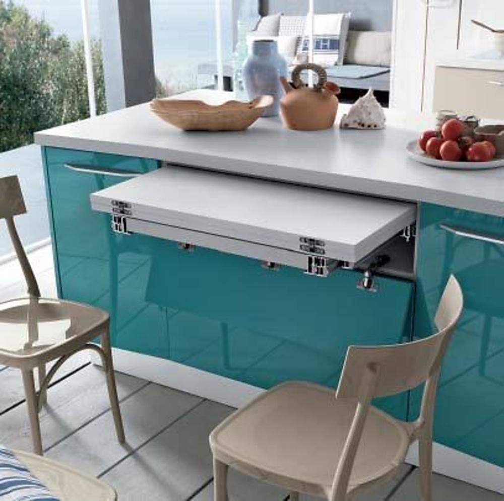 Mesa extraible brunch cocina y ba o interiorismo y for Herrajes para muebles de bano