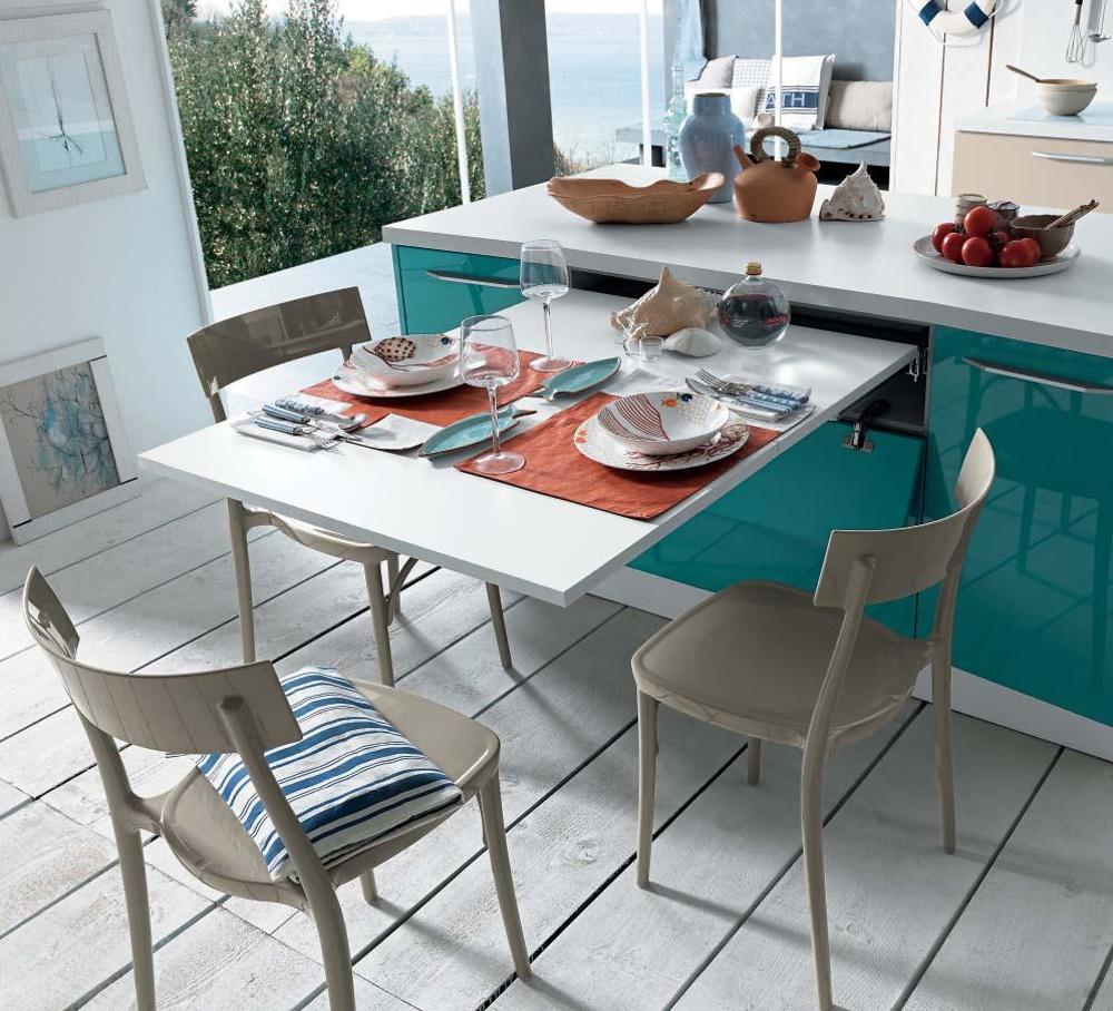 Mesa extraible brunch cocina y ba o interiorismo y for Mesas extraibles salon