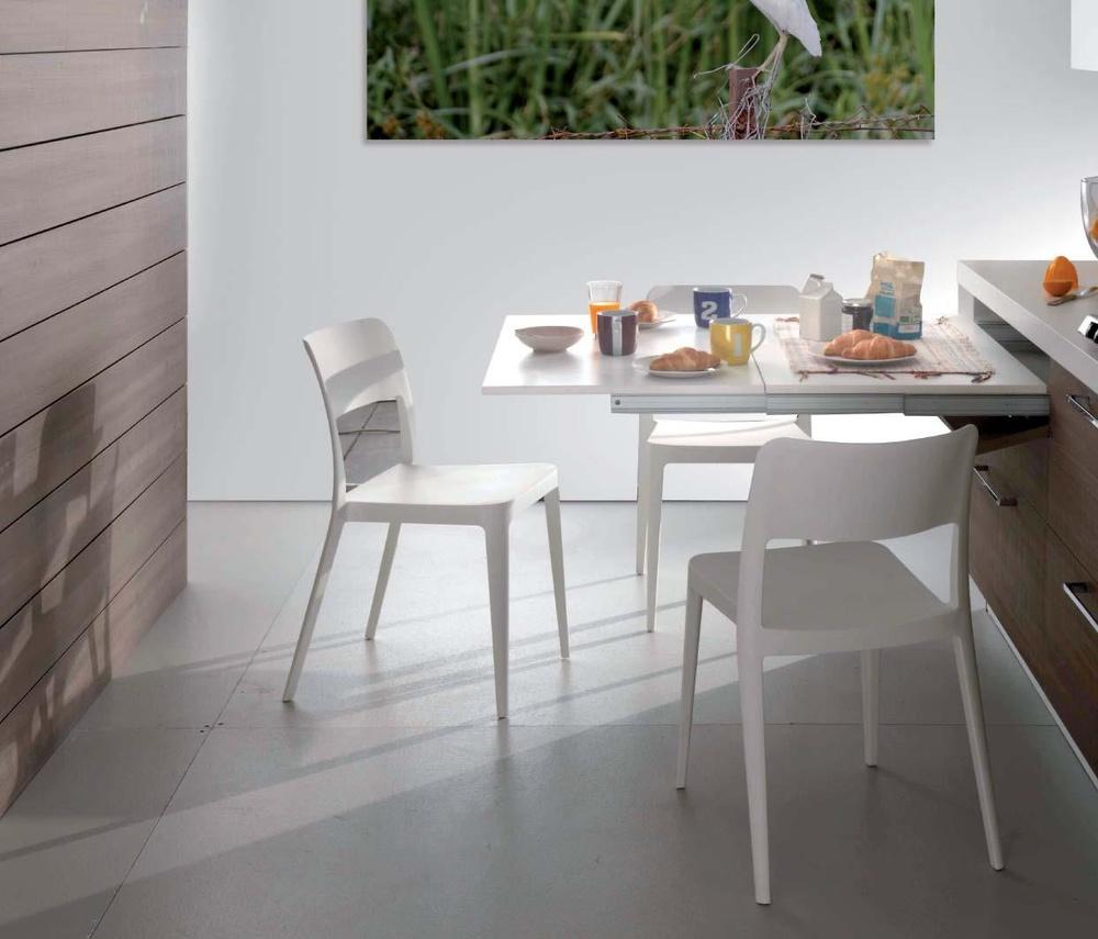 Mesa extraible lunch cocina y ba o interiorismo y Mesas extraibles salon