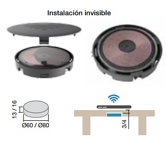 MINIBATT FI60 / FI80 CARGADOR INALAMBRICO DE EMBUTIR PARA SMARTPHONES