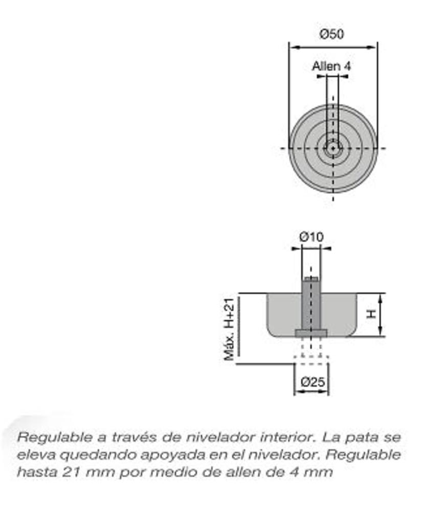 Nivelador Para Mueble Glide Carpinteria Herrajes Carpinteria  # Niveladores Muebles