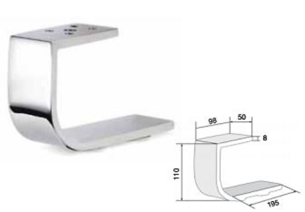 Patas para mueble nimia carpinteria herrajes - Patas de aluminio para muebles ...
