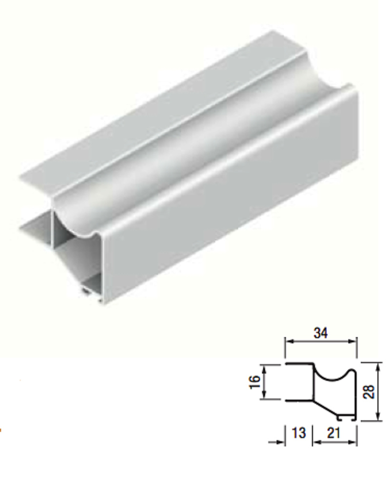 Perfil terra kptr 16mm basic lacados y anodizados guias - Perfiles de aluminio para armarios ...