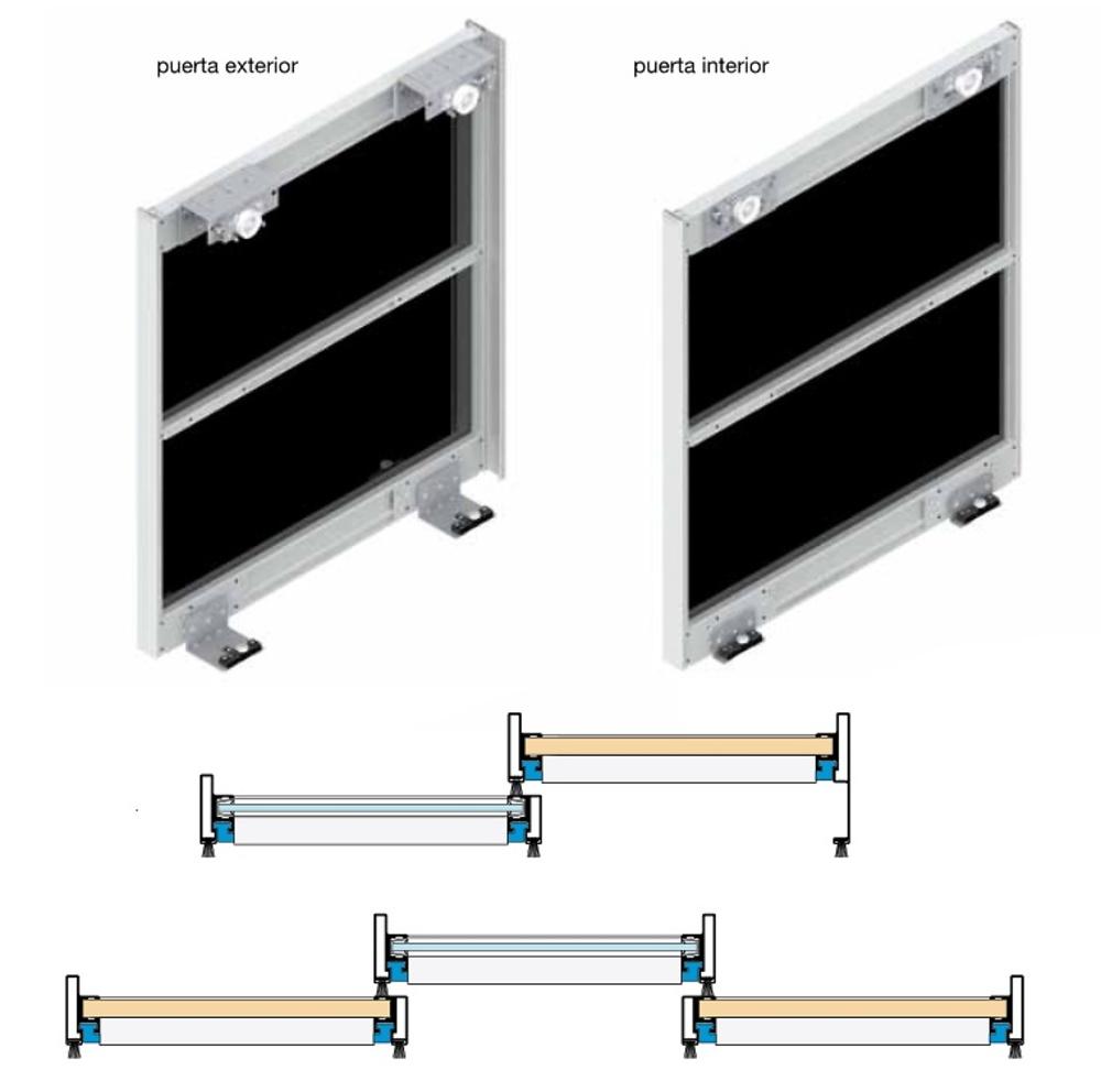 Sistema volare 40 guias y armarios sistemas armarios y complementos puertas correderas - Sistemas puertas correderas armarios ...