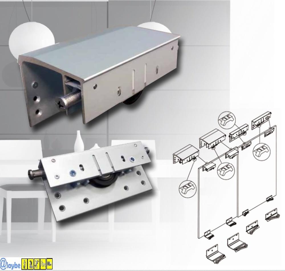 Sistema volare v80 guias y armarios sistemas armarios y - Sistemas de puertas correderas para armarios ...