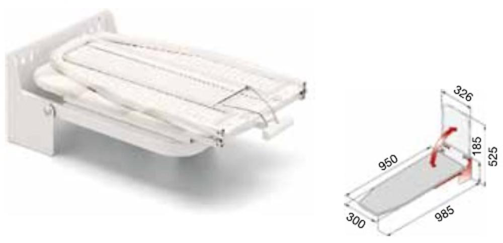 Tabla planchar extraible abatible cocina y ba o for Mesa planchar plegable