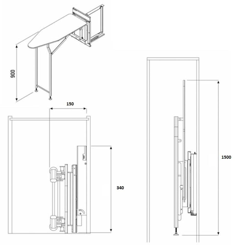 TABLA PLANCHAR INTERIOR ARMARIO EXTRAIBLE
