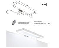 APLIQUE BAÑO CRONOS LED 6 W A 220 V