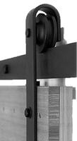 BRAULIO kit acc. pta GRANERO de madera simples o dobles hasta  120KG.NEGRO