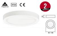 Downlight KORE LED Fijo redondo sobrepuesto extrafino. De Ø90mm y Ø190mm