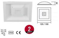 Downlight REXA LED Fijo redondo a empotrar con tres intensidades de luz.