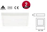 Downlight ROKU LED Fijo cuadrado sobrepuesto extrafino de 90X90mm y 190X190mm
