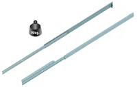 FRONTSLIDE H47  Guía unidireccional sobresalida para mesas extensibles, extracción frontalCon freno integrado y sin freno.