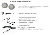 KIT COMPLETO 2 FOCOS LED EMPOTRAR-SUPERPONER CON 2 SENSORES DE APERTURA