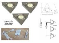 KIT LUX 3 FOCOS TRIANGULAR LED