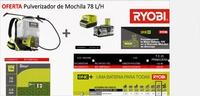 RYOBI PULVERIZADOR DE MOCHILA A BATERIA 5,0   78 L/H + BATERIA Y CARGADOR RC180120-150