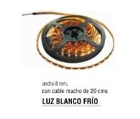 TIRA LUX LED 8MM LUZ BLANCO FRIO