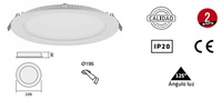 foco ELIOTT Fijo redondo a empotrar con lámparas de LED. De Ø220mm