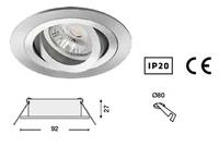 foco FABIAN Basculante orientable redondo para instalación 12 V. o 230 V.