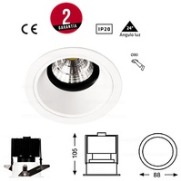 foco Fijo KAKU redondo con lámpara led 12W incluida. Funciona a 230 V.